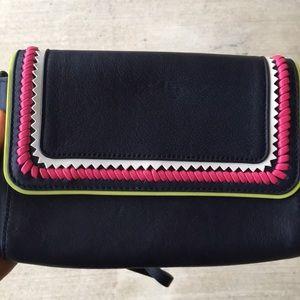 Bcbg harper leather whipstitch crossover bag